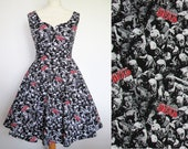 Zombie Dress The Walking Dead Fabric -  Handmade To Order MEASUREMENTS REQUIRED See full details and 2nd picture