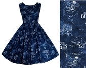 Dress Fantastic Beasts Fabric - LAST ONE - Hand made To Order  . Newt Scamander - Harry Potter