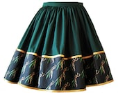 Skirt - Loki Fabric Border - elastic waist multifit skirt