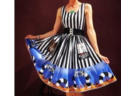 Striped Costume Dress Beetlejuice Sandworm - Handmade To Order MEASUREMENTS REQUIRED See full details and 2nd picture