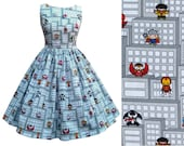Marvel Fabric Dress Kawaii Comic Characters Fabric - Handmade To Order Any Size MEASUREMENTS REQUIRED See full details and 2nd picture