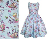 Dress Made From Tinkerbell Cotton Print Fabric - Handmade To Order MEASUREMENTS REQUIRED See full details and 2nd picture