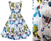 Dress Transformers Fabric- Handmade To Order MEASUREMENTS REQUIRED See 2nd picture - Bumblebee Optimus Prime Megatron Starscream