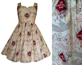 Dress Harry Potter Fabric - Marauders Map - Hand made To Order MEASUREMENTS REQUIRED .