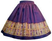 Card Captor Sakura Clow Cards Themed Fabric Border Skirt - elastic waist multifit - LAST ONES