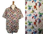 Gents Shirt Marvel Comics-  Geeky Hawaiian or Standard Proper Collared Button Up Mens Shirt Avengers X Men