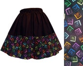 Skirt Periodic Table Of Elements Symbols Chemistry Science Fabric Border Geeky Scientific - Handmade To Order - LAST ONE