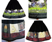 Skirt Middle Earth Themed Fabric Border Elastic Waist Skirts - Lord Of The Rings The Hobbit Book