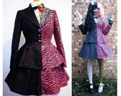 Two Face Lolita Cosplay based on Tommy Lee Jones in Batman Forever Costume - Hand Made To Order - Jacket, Skirt and Shirt