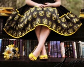 Extra Full Skirt Featuring Hogwarts House Crest Border- DISPATCH FROM NOVEMBER - Handmade Any Size - Harry Potter -