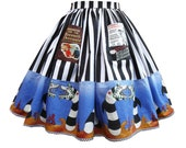 Striped Skirt - Beetlejuice - Extra Full, Any Size, Measurements Required - Sandworm Border