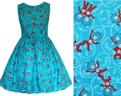 Dr Seuss Fabric Dress - Thing One and Thing Two Cat In The Hat - LAST ONE - Handmade To Order  See full details and 2nd picture Book Dress