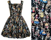 Day of the Dead Dress - Dia de los Muertos - Handmade To Order MEASUREMENTS REQUIRED See full details and 2nd picture