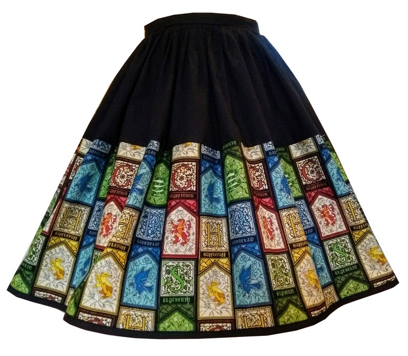 228f284b11 Skirt Made From Harry Potter House Crest Fabric Elastic | Etsy