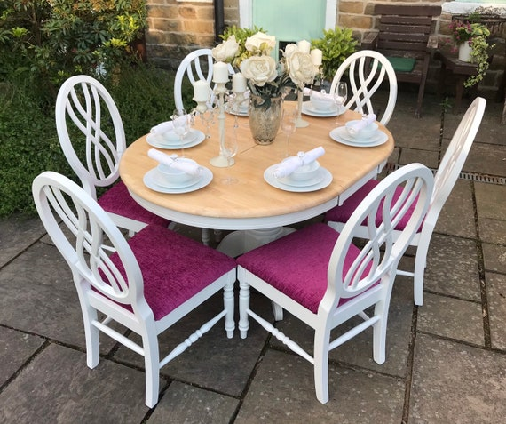 Dining Table 6 Chairs Cerise Pink Dining Chairs