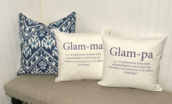 Glam pa definition throw pillow cover