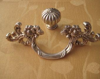 1.77u0027u0027 2.5u0027u0027 Shabby Chic Dresser Pull Drawer Pulls Door Handles Antique  Silver French Vintage Cabinet Knobs Handle Pulls Hardware 45 64 Mm