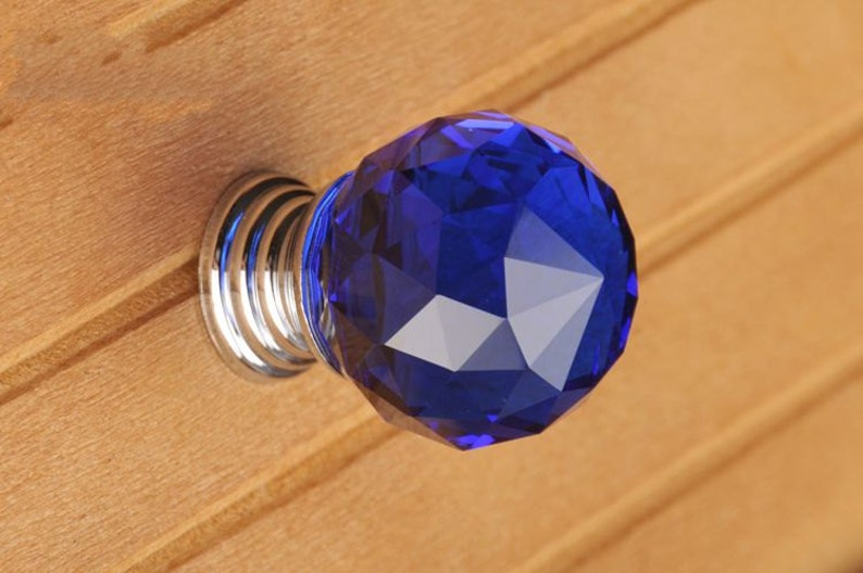 1.4 \u201c Crystal Knobs  Dresser Drawer Knobs Pulls Handles Sparkle  Funiture Cabinet Door Handle Pull Knob Hardware