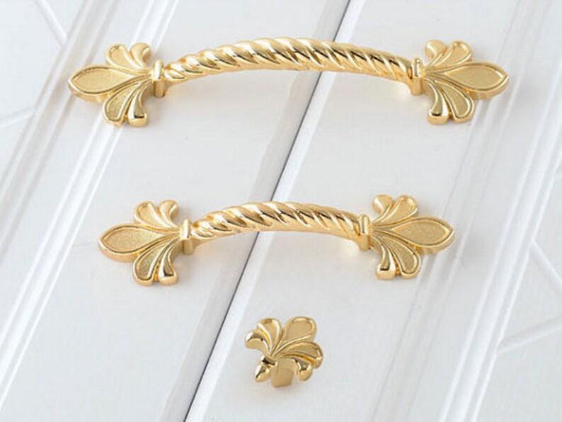 """2.5/"""" 3.75/"""" Drawer Pull Cabinet Door Handle Oil Rubbed Bronze Fleur De Lis 64 96"""
