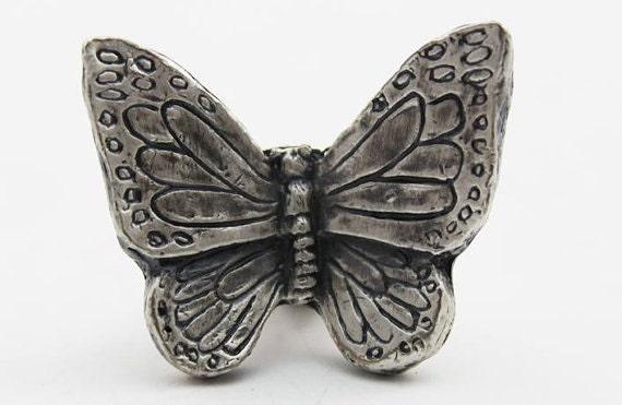 Butterfly Cabinet Knobs Animal Design Dresser Knobs Animal Etsy