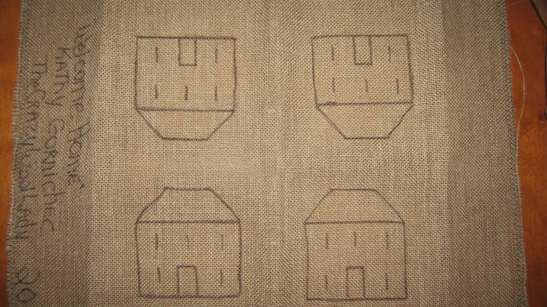 Primitive Rug Hooking or Oxford Punch Needle PATTERNWelcome Home Mug Rugs .Ornaments 5 Bowl Filler