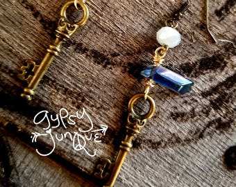 Key to Crystals Earrings