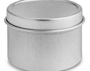Round metal tin Etsy