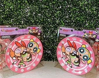 The Powerpuff Girls Dinnerware Set of 4 NIB,Cartoon Network Merchandise,90s Chic ,90s Baby Dining Set,Blossom,Bubbles,Buttercup,PPG
