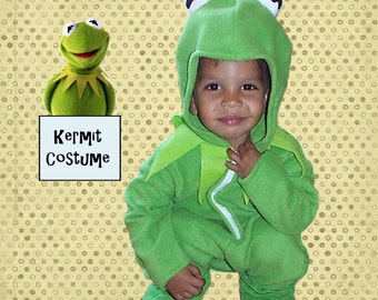 Kermit the Frog Costume for Baby Toddler Child  sc 1 st  Etsy & Frog costume | Etsy