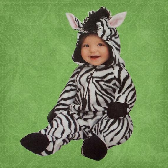 Zebra Kostüm Baby Kleinkind Fleece Nach Maß