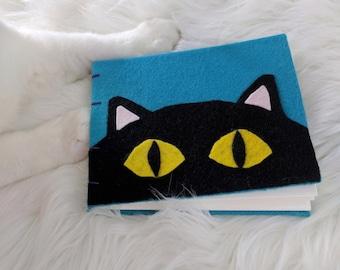 Peeking Cat Journal with Coptic Stitch Binding Smash Book Blank Book Journal Notebook
