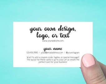 Business Cards | Pointed Corners | Custom Personalized Business Cards | Mommy Calling Cards | Social Media Cards | SH5001