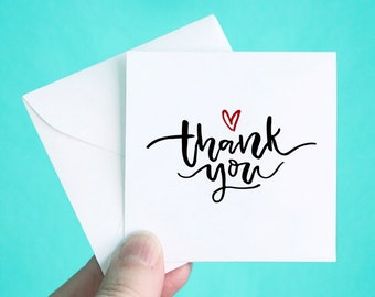 mini thank you cards etsy