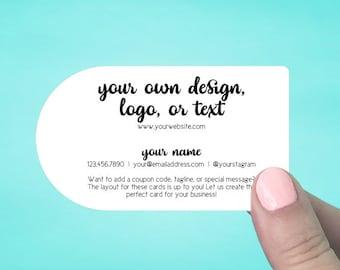 Circle business card etsy flashek Choice Image