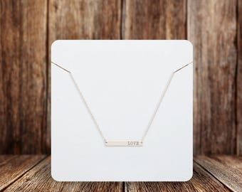 Blank Necklace Cards | Rounded Square | Jewelry Display Cards | SH002NE