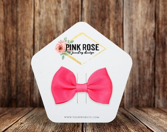 Custom Hair Bow Cards | Pentagon | Multiple Sizes | Personalized Hair Clip Cards | SH082HA