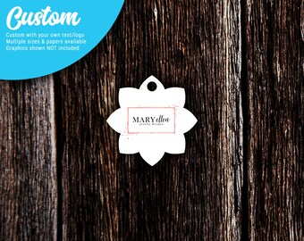 Hang Tags | Personalized Tags | Custom Tags | Kraft Tags | Price Tags | Jewelry Tags | Clothing Tags | Star Flower | SH235
