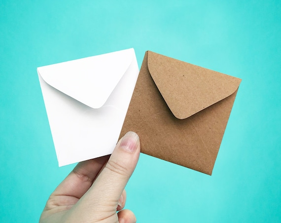 25 mini envelopes 3 1 8 square envelopes little etsy