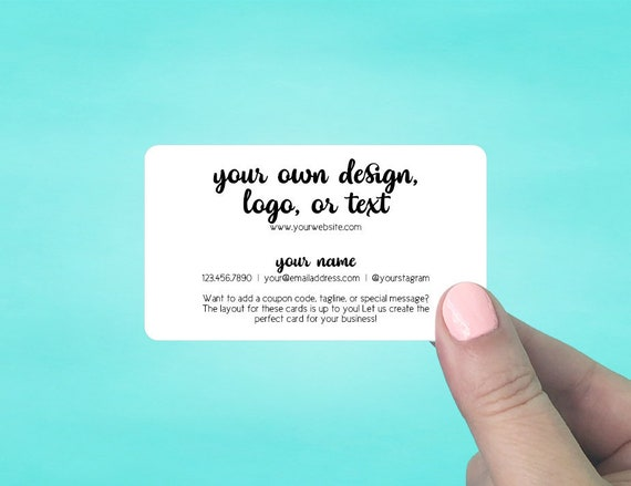Business Cards Rounded Corners Custom Personalized Etsy