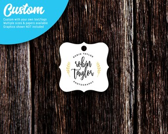 Personalized Tags | Custom Tags | Jewelry Tags | Price Tags | Favor Tags | Wedding Tags | Square Bracket | SH204