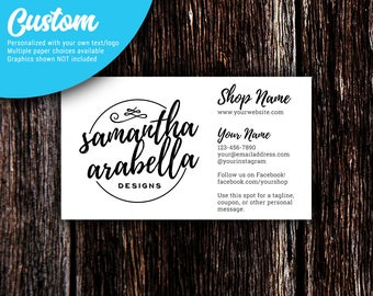 Business Cards | Pointed Corners | Custom Personalized Business Cards | Mommy Calling Cards | Social Media Cards | SH501 01