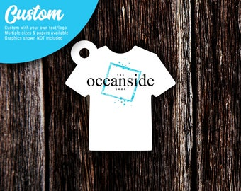 Hang Tags | T-Shirt Shaped Tags | Custom Tags | Personalized Tags | Price Tags | Clothing Tags | Favor Tags | SH220