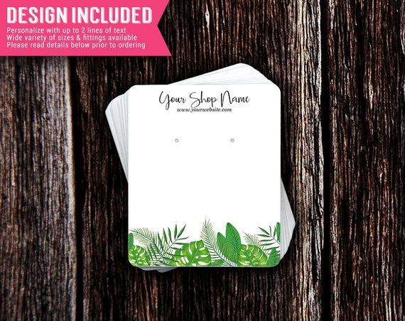Display Cards Packaging Personalized and Custom Necklace Cards Earring Cards DS0027 Jewelry Cards Hummingbird
