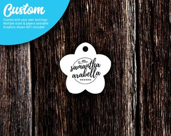 Hang Tags | Personalized Tags | Custom Tags | Kraft Tags | Price Tags | Jewelry Tags | Clothing Tags | Flower | SH207