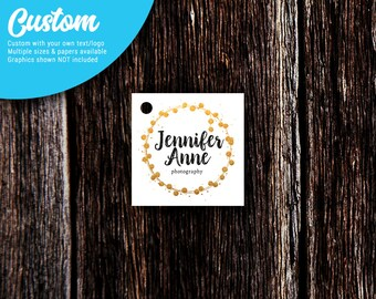 Custom Tags | Square | Jewelry Tags | Price Tags | Clothing Tags | Favor Tags | SH201