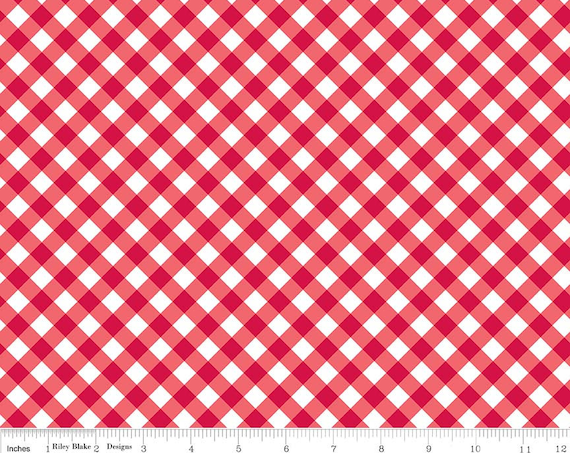 Red Patriotic Gingham by Riley Blake Designs