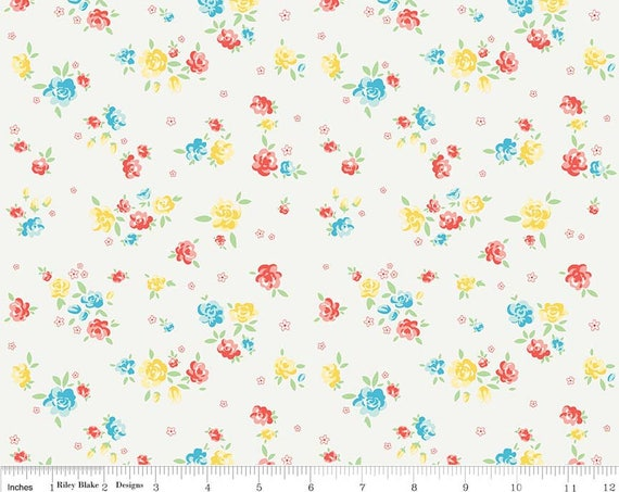 Cream Bunnies Blossoms from Penny Rose Fabrics