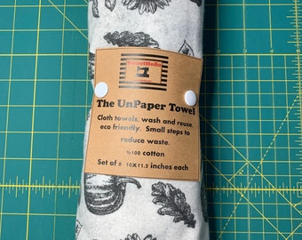 Reusable Unpaper Towel Grey Fall