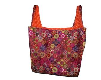 Colorful Mandala Reversible Market Bag