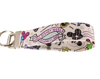 Dooney Inspired Fabric Keychain